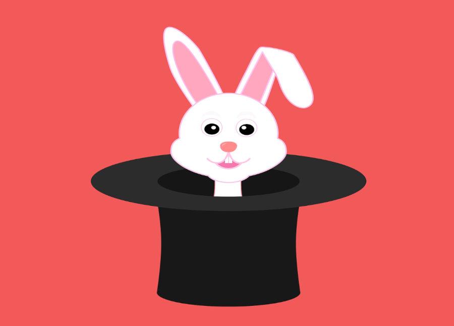 chapeau et apparition de lapin