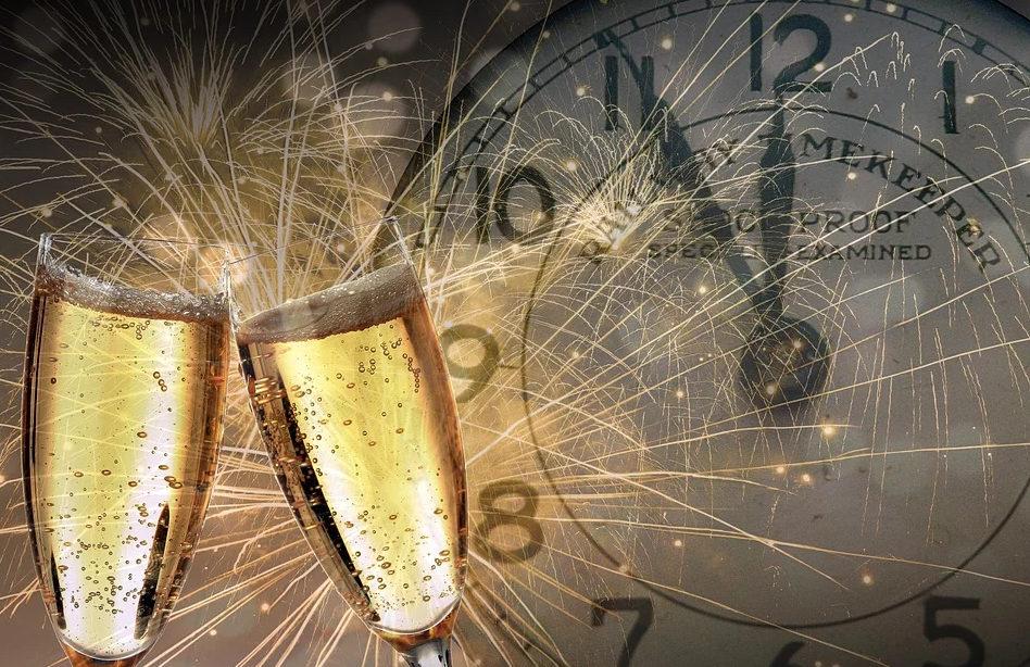 Faire la fête avec champagne