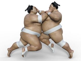sumotoris en combat